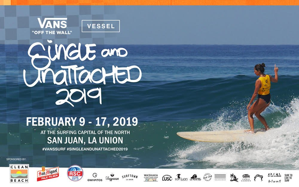 7th Annual Single & Unattached 2019 Classic Single Fin Surfing Fiesta in San Juan – La Union, Set for 9-17 February