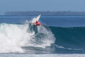 Leilani McGonagle and Lucas Silveira Victorious at Krui Pro