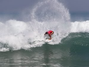 Opening Day of RAST #1 See's Men's Shortboard Division Tackling Solid Padma Beach