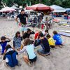 Contest Preparation on Day 2 of the Grom Patrol Surf Training Camp #2 on Legian Beach
