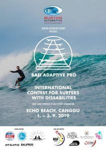 Bali to Host the Bali Adaptive Pro Presented by Burton Automotive at Canggu from 1-3 September – Indonesia's First Disabled Surfers Pro Surfing Event